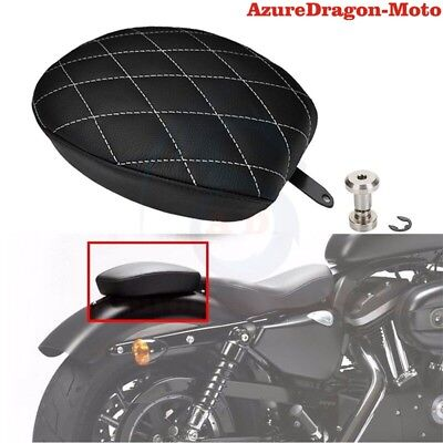 Diamond Stitched Rear Passenger Seat Pillion Pad For Harley Sportster XL1200 883