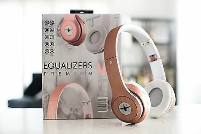 Gripped Fitness Wireless Cordless Headphones Equalizers V.2 Premium Rose Gold