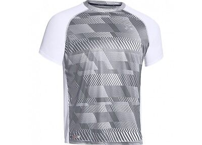 Under Armour HG Run Flyweight SS T Shirt Men White/Ref 1244172 Brand new UA6