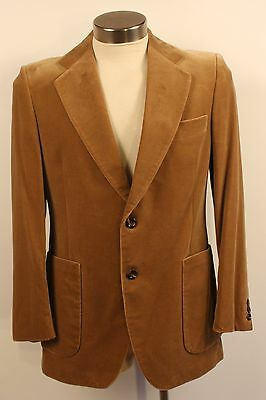 MEDIUM, FAWN, MENS VELVET JACKET. 1970's ORIGINAL VINTAGE.