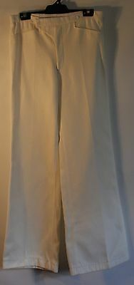"SMALL WHITE ,R.F. WILLIAMS CLIPPER 1970's PANTS.ORIGINAL VINTAGE. WAIST 30"" / 77"