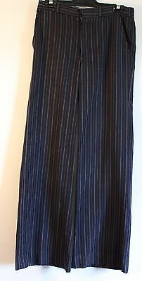 SMALL SIZE,1970's BLUE STRIPPED, MENS FLAIRED PANTS. ORIGINAL VINTAGE. WAIST 30""
