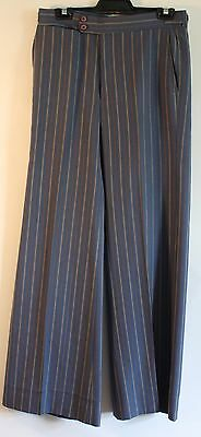 "SMALL, 1970's MENS BLUE STRIPPED FLAIRED PANTS. ORIGINAL VINTAGE. WAIST 32"" / 82"