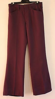 "SMALL, NEW 1970's PURPLE MENS PANTS. WAIST 30"" / 77CM. MR STRETCH BY KEYMAN."
