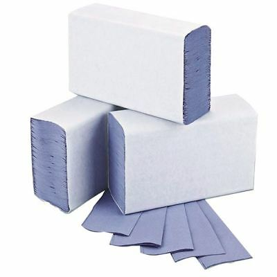 2Work Blue 1-Ply M-Fold Hand Towel 242x240mm (Pack of 3000)  [2W71923]
