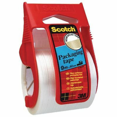Scotch Clear Reinforced Packaging Tape 50mmx9m With Easy Start  [3M23942]