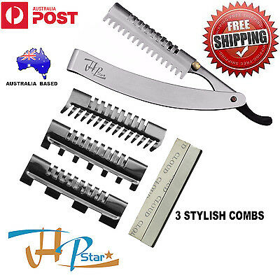 Hair Layer, Thinning, Hair Shaper Cutting Razor +5 Blades And 3 Changeable Combs