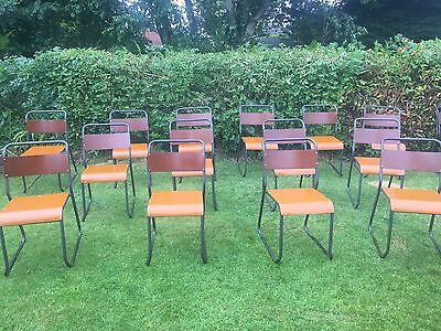Vintage Industrial Stacking Bakelite Dining Chairs Cox Style