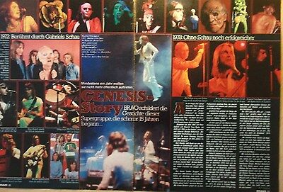 2 german clipping GENESIS GABRIEL COLLINS N. SHIRTLESS ROCK BOY BAND BOYS GROUP