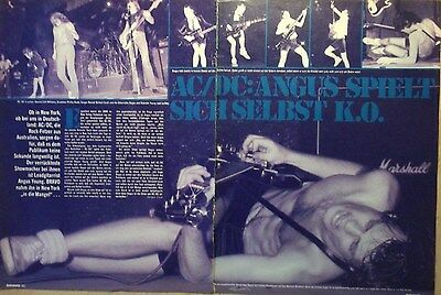 2 german clipping AC/DC LIVE ANGUS YOUNG SHIRTLESS ROCK HARD BOY BAND BOYS GROUP