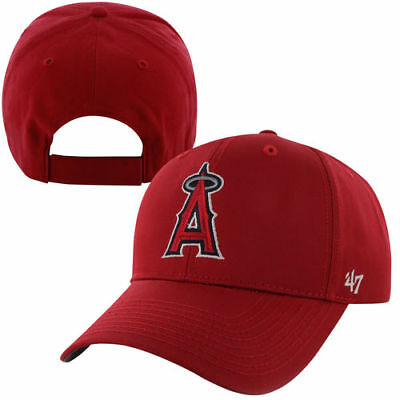 half off ff009 87a5b  47 Brand Los Angeles Angels Youth Basic Adjustable Hat - Red - MLB.