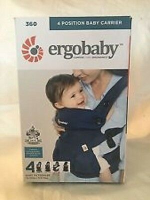 NEW 2017 -Ergobaby 4 Positions 360 Baby Carrier Midnight Blue - FREE SHIPPING