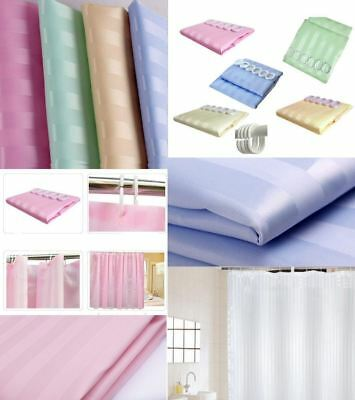 Stripe Shower Curtains Hook Ring Water Repellent 180 X 180cm Modern Design