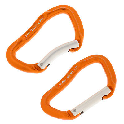 CUTICATE Rock Climbing 24KN Straight//Bent Gate Carabiner Quickdraw Protection