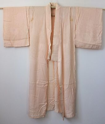 Vintage authentic Japanese pink jyuban juban for women, M, Japan import (E1598)