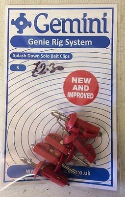Gemini Rig System - NEW IMPROVED Splashdown Solo Bait Clips - 5's