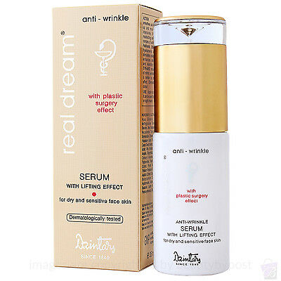 Anti wrinkle FACE SERUM for dry and sensitive skin by Dzintars 96% natural, 35ml