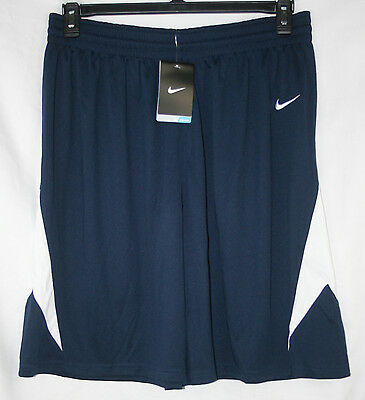 New Nike Womens Dri-Fit Navy Blue & White Basketball Shorts - Sizes L & XL – NWT