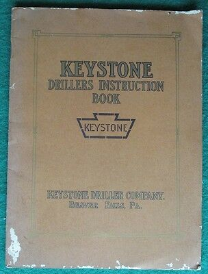 Rare Original Keystone Driller Company Instruction Book 1914 Fully Illustrated