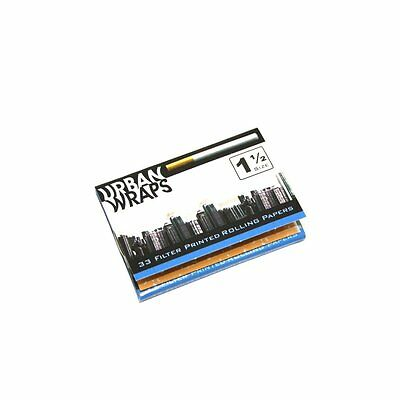 URBAN WRAPS 1 1/2 Size cigarette rolling papers ONE PACK!  - FREE SHIPPING!