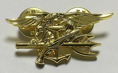 Us Navy Seal Eagle Anchor Trident Metal Gold Mini Badge -1240