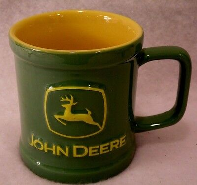 2006 John Deere Raised 3D Green Yellow Tractor Encore Group 12 oz Mug Cup