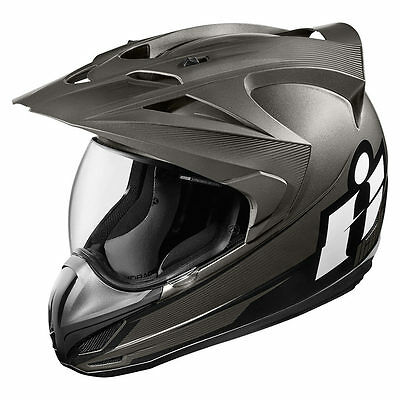 Icon Variant Double Stack Grey Full Face Dual Purpose Motorcycle Helmet