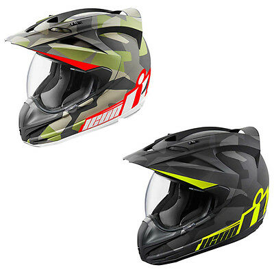 Icon Variant Deployed Full Face Dual Purpose Motorcycle Adventure Helmets