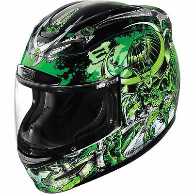 Icon Airmada Shadow Warrior Green Full Face Motorcycle Helmet All Sizes