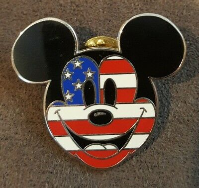 2d1022402ad DISNEY PIN 69213 Mickey Mouse Flag Face Patriotic Americana Stars ...