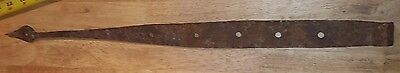 "Antique  23"" BARN DOOR wrought IRON STRAP HINGE hardware old rustic"