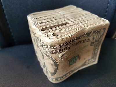 Vintage $10 Dollar Bill Piggy Bank Coin Storage