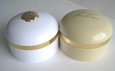Vintage ESTEE LAUDER Private Collection + White Linen EMPTY Plastic Powder Boxes