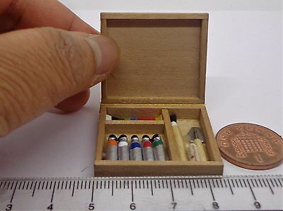 1:12 Scale  Opening Painting  Box Set Dolls House Miniature Artists