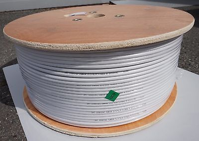 RG-6 Coaxial Cable Suitable for Satellite TV Distribution, 75 ohm, 500m drum
