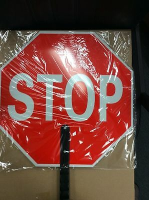 Non Reflective Stop Slow Traffic Sign Paddle
