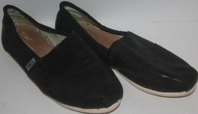 Toms Women's Shoes Classic Slip Synthetic Leather Black Size 8 FREE SHIPPING!