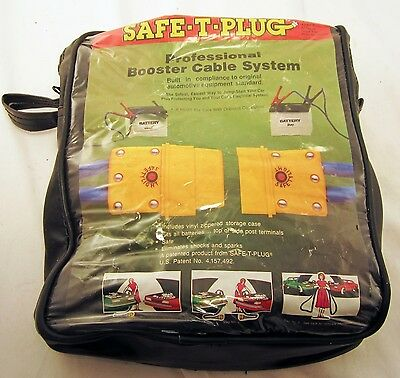 Automotive or NAUTICALt Battery Booster Cable Safe - t- PLug System 12 FOOT