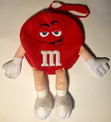 RARE! Red M&M Plush School Backpack With Legs - FAST SHIPPING!