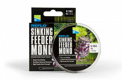 BRAND NEW = Preston Innovations Reflo Sinking Feeder Mono - All sizes