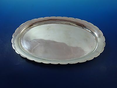 """Oval Mexican Sterling Silver Dish Bowl Platter 10 1/4"""" by 6"""""""