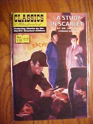 CLASSICS ILLUSTRATED  #110 A STUDY IN SCARLET  (JACK LAKE 2012) FN to NM