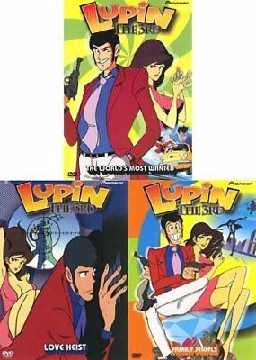 Lupin the 3rd 1-3 DVD SET New Free Shipping