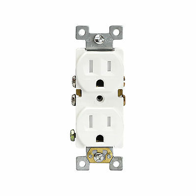 Tamper Resistant Duplex Receptacles 15A Outlet 61580-TR-W Child-Safe Plugs