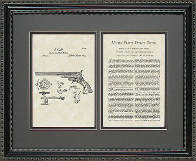 Patent Art - Colt Handgun - Hunter Marksman Gun Collector Print Gift C1304