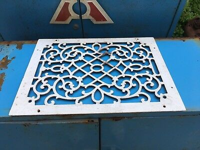 vintage cast grate heater floor Metal Victorian Furnace Gothic Iron Home
