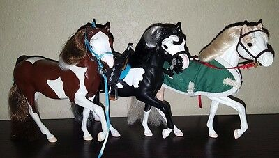 Grand Champion Horse C/M Custom Paint Stallions Set Lot of 3 **DISPLAY ONLY**