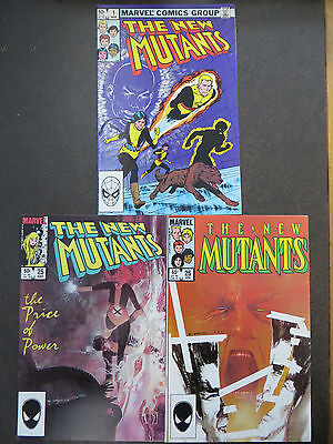 New Mutants #1 #25 & #26 1st full Legion 1983 FX HOT TV Show X-Men Movie Coming!