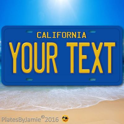 """California ANY TEXT Your Personalized Text Aluminum Vanity License Plate 6""""x12"""""""