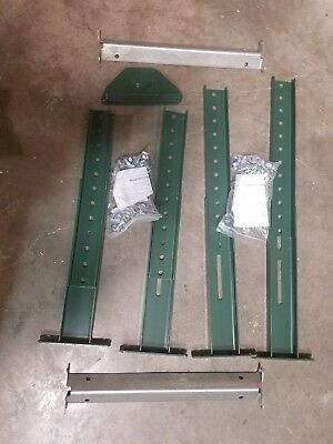 LOT OF 2 Conveyor H-Stands,19-1/2to31In,36BF, 5W818, Ashland Green